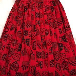 Ladies Vintage pleated A-Line Skirt